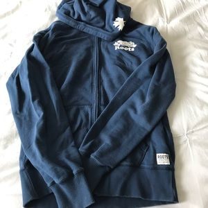 Authentic Roots Blue Zip-Up Hoodie. Size Small